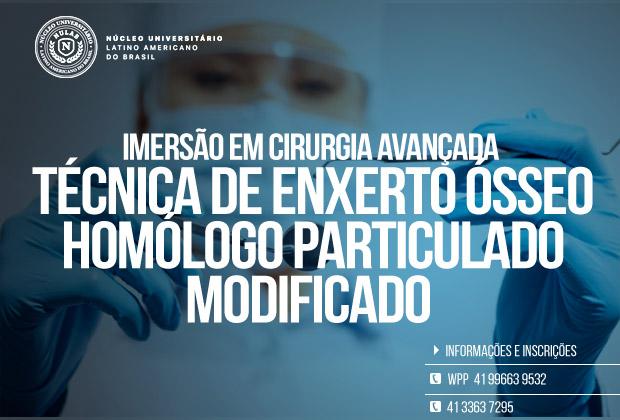 Curso de Enxerto Ósseo para dentistas – Técnica de Enxerto Ósseo Homólogo Particulado
